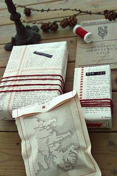 book page gift wrap-- I am pinning this because @Carleigh Courey pinned this. :) Maybe someday I can be this creative!