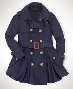 Ralph Lauren Kids Coat, Little Girl Trenchcoat - Kids Girls 2-6X - Macy's