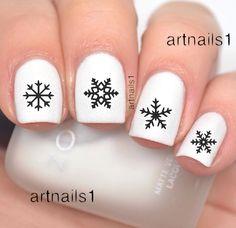 Snowflake Nail Nails Art Decals Winter