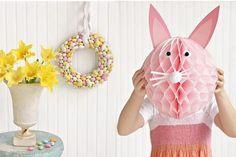 Divertidos conejos de pascua de papel para hacer con niños