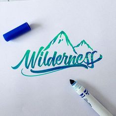 Lettering and calligraphy made with Crayola and different brushpens. Crayola Calligraphy, How To Write Calligraphy, Calligraphy Letters, Typography Letters, Graphic Design Typography, Lettering Design, Typography Drawing, Lettering Ideas, Types Of Lettering