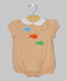 Loving this Orange Fish Bubble Bodysuit - Infant on #zulily! #zulilyfinds