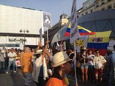 @HsalasteleSUR #España. Plaza Puerta del Sol de #Madrid. Ahora!. Solidaridad con los campesinos colombianos.