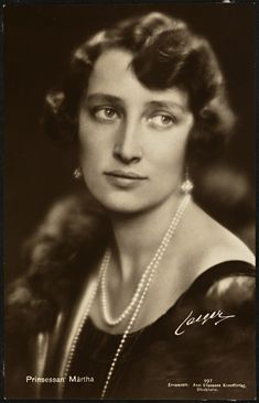 Crown Princess Märtha of Norway - c. 1929 - She was a fine and kind person - @~Mlle