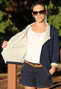 Polka Dots Morris Blazer by CarlyinStitches | Project | Sewing / Women's | Outerwear | Cardigans & Sweaters | Kollabora