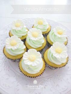 My vanilla amaretto cupcakes