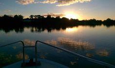 Sonnenuntergang in Seurre. Wir haben definitiv den besten Platz!
