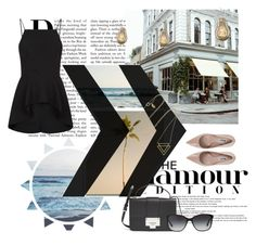 """Untitled #207"" by langnerim ❤ liked on Polyvore featuring Dune, Finders Keepers, Bulbrite, Maria Black, Jimmy Choo and Bulgari"