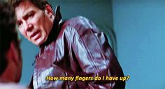They had to tie his fingers together. William Shatner can't do the LLAP. I repeat--William Shatner can't do the LLAP.