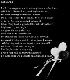 Just a Child, a poem about the fear of growing up, I love this poem it reminds me of Peter Pan.