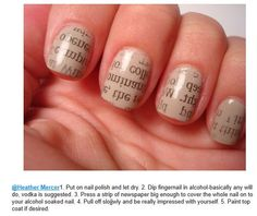 Literary nails/typographical beauty