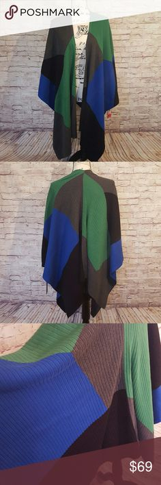 Vince Camuto Wrap This Vince Camuto Colorblocked Wrap is Perfect for those Chilly Spring Days! Add a Splash of Color to your Day or Evenings... Vince Camuto Accessories Scarves & Wraps