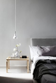 Bedroom - Home Life - through Planete Deco Scandinavian Interior Design, Home Interior, Scandinavian Bedroom, Interior Modern, Scandinavian Style, Nordic Bedroom, Nordic Style, Home Bedroom, Bedroom Decor