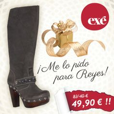 ¡Ya viene los reyes Magos! Añade estas #botas #Exé a tu lista de regalos.