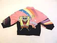 Toddler Girls SpongeBob Squarepants Denim Motorcycle Jacket by JH Design Size 3T
