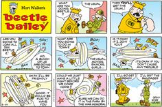 Beetle Bailey Comic Strip for August 2014 Beetle Bailey Comic, The Lockhorns, Mort Walker, Garfield Comics, Funny Pins, Funny Stuff, This Is Us Movie, Comics Kingdom, Fun Comics
