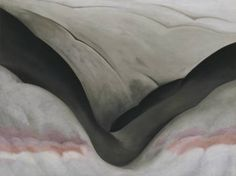 Black Place, Grey and Pink / Georgia O'Keeffe / 1949 / oil on canvas