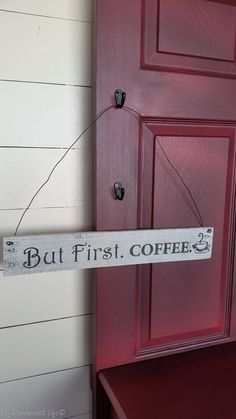 How to make a But First. Coffee Pallet Sign. This quick and easy step by step project tutorial will show you just how to make your own with lots of tips.