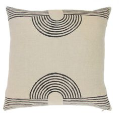 MAGNET | LINEN The perfect neutral accent pillow with our signature magnet design is the pillow you're always looking for: neutral without being boring, graphic without being too cute. Our favorite works-in-every-living-room pillow.   18 x 18 inches   100% Indian linen; natural dyes   matching hidden zipper enclosure   hand block printed by 5th generation master printers in Bagru; sewn in Jaipur  includes 100% down-feather insert made in the USA    Unfortunately we are unable to ship…