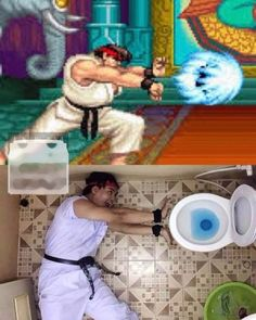 #streetfighter #hadouken #toilet #series #win #habal #هبل #habaldotcom