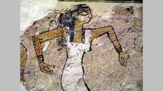 História da dança do ventre. Meninas dançando: Detalhe da foto