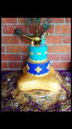 Princess Jasmine Birthday Cake ~ Aladdin Themed Cake ~ Cake by: Bella Baby Cakes / Event by: Dapper Doll Events (L.A. Ca)