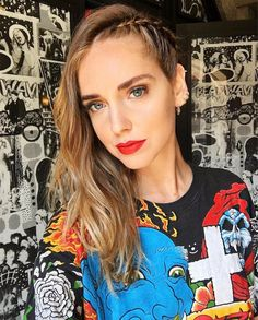 Chiara Ferragni very well might be the queen of mixing and matching earrings.  The it-girl 's ear game is always on point