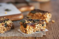 Vegan almond butter energy bars.