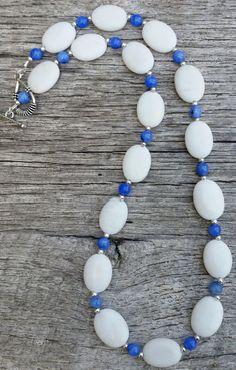 White Gemstone Necklace  #Etsy #handmade #jewelry #statteam #promotingwomen
