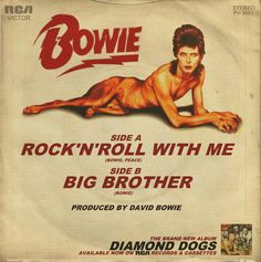 "David Bowie ""Rock'n'Roll With Me"" 7-inch single (back)"