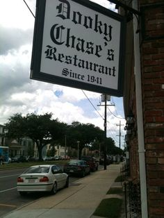 dining in at dooky chase restaurant in New Orleans, Louisiana  it is known for  it's Famous sweet potato pie