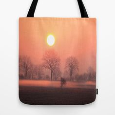 Foggy Sunrise  Tote Bag by Angelika Kimmig - $22.00