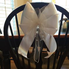 white ivory ribbon your color tulle add by Just4UBowsandFlowers