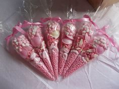pink party cone favours SET OF 10 by SweetGiftsandTreats on Etsy