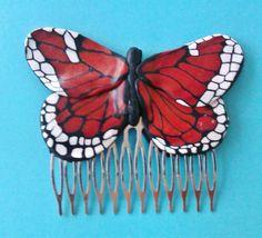 Monarch butterly hair comb van ManonvanKempen op Etsy, €20.00