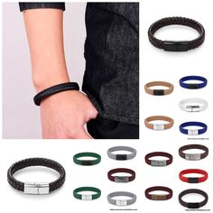J&I Braided Leather Bracelet Fashion Beauty, Mens Fashion, Healthy Women, Make A Gift, Bangles, Bracelets, Braided Leather, Nba, Braids