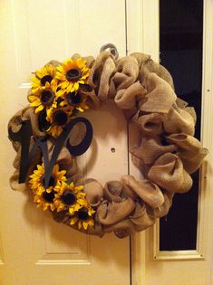Burlap wreath #2!!!