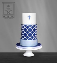 Clover Lattice Communion Cake - Cake by ArtofCakeNY