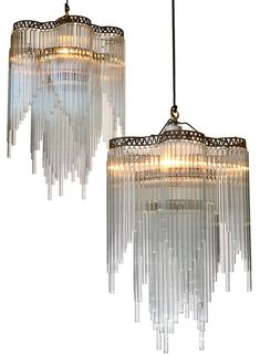 Art Deco French chandeliers - Trove - Photo by H. Boden Lee