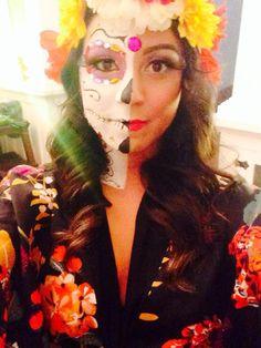 Sugar skull makeup halloween costume idea