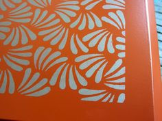 Sydney Barton - Painted Furniture: Orange Asian Style Buffet (stenciled!)