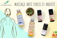 Huile de massage anti-stress et anxiété pour lâcher prise et décontracter les muscles