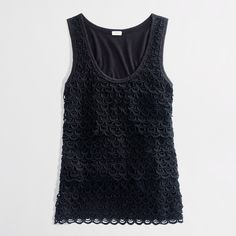 Layered Lace Tank : Women's Knits & Tees | J.Crew Factory