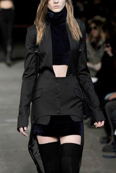 Deconstructed Tailoring - high-low jacket; runway fashion details // Alexander Wang F/W 2010