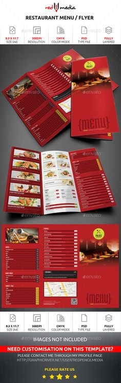 Restaurant Trifold Menu / Flyer