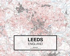 Leeds - England. Download CAD Map city in dwg ready to use in Autocad. www.mapacad.com