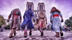 Assassin's Creed Unity Meets Parkour in Real Life [4K] #assassinscreed #parkour