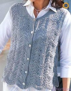 Knitting vest models – best 2018 knitting vest samples – My CMS Crochet Vest Pattern, Baby Knitting Patterns, Knitting Designs, Knit Crochet, Ärmelloser Pullover, Black Crochet Dress, Corsage, Crochet Clothes, Costume
