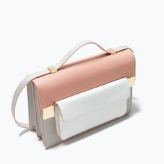 Color block messenger bag from ZARA. Shop more products from ZARA on Wanelo. Fashion Bags, Fashion Handbags, Zara Bags, Best Bags, Clutch, Cute Bags, Mode Style, Backpack Bags, Messenger Bags