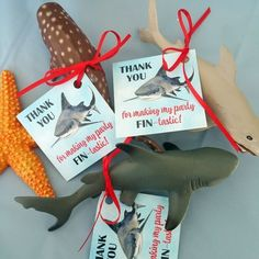 Shark Birthday Party Favor Tags & You for making my party FIN-tastic!& & Th& Shark Birthday Party Favor Tags & You for making my party FIN-tastic!& & That Party Chick The post Shark Birthday Party Favor Tags & You for making my party FIN-tastic! Shark Party Favors, Party Favor Tags, Beach Party Favors, Wedding Favors, 6th Birthday Parties, Birthday Party Favors, 2nd Birthday, Frozen Birthday, Shark Birthday Ideas